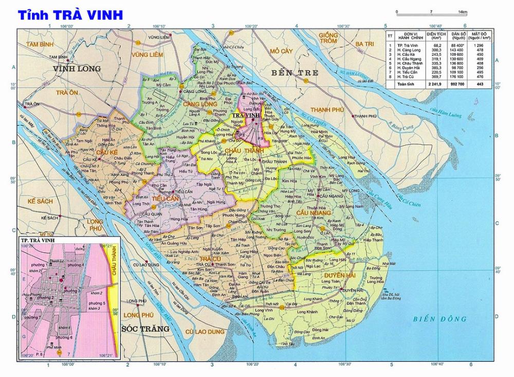 Bang Gia Dat tra vinh - Bảng Giá Đất Trà Vinh