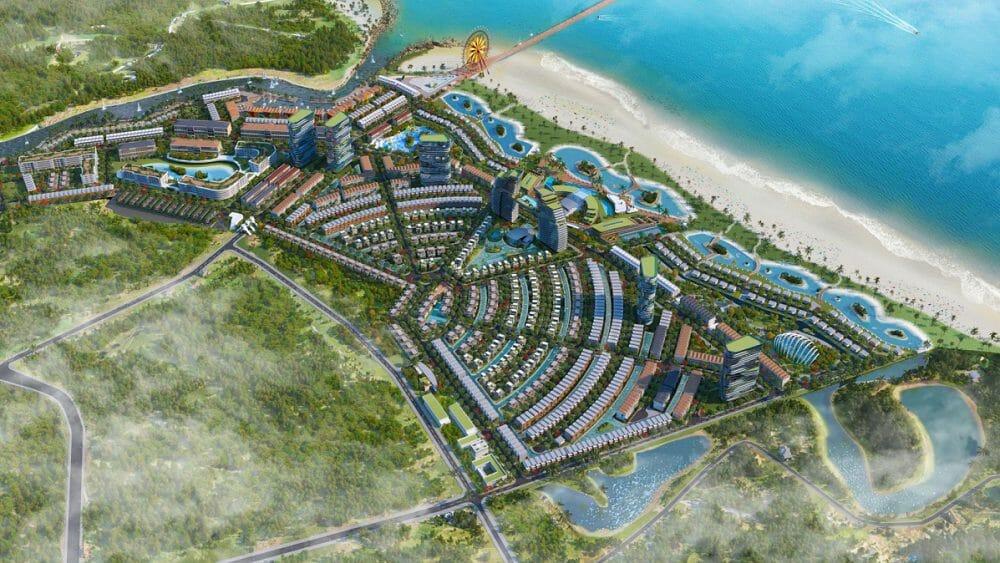 Biệt thự Venezia Beach Bình Thuận  vị trí sát sông góc view rộng