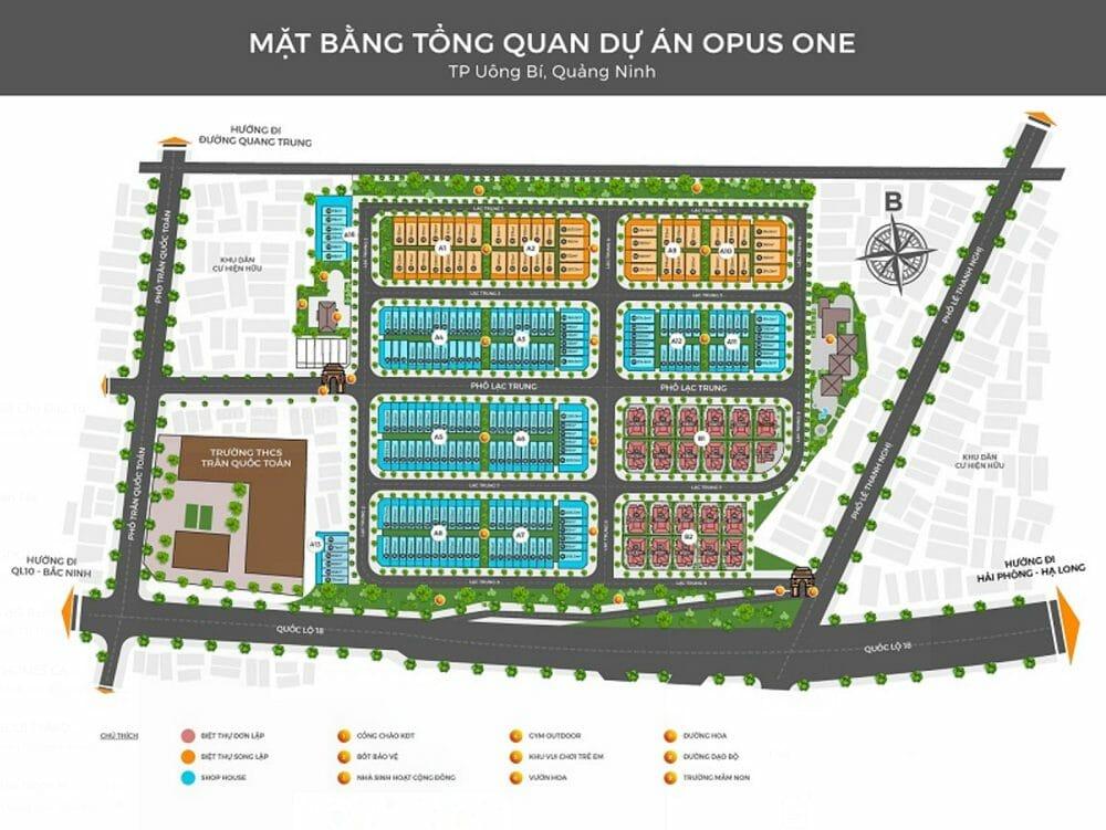 Khu dự án Opus One Uông Bí phường Quang Trung – Dự án Biệt thự hấp dẫn nhất huyện Quảng Ninh