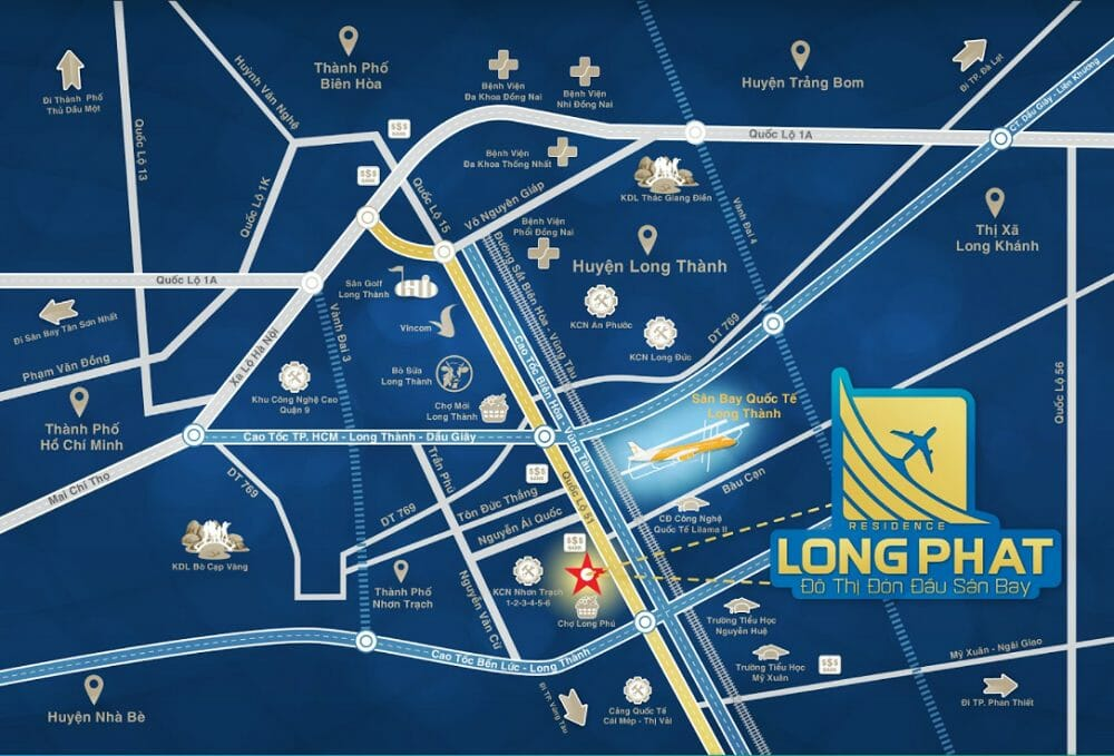 Khu dự án Long Phát Residence liên kết vùng tốt đường rộng rãi